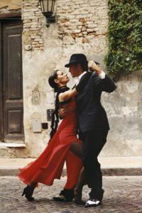 Tango tanzen auf der Straße
